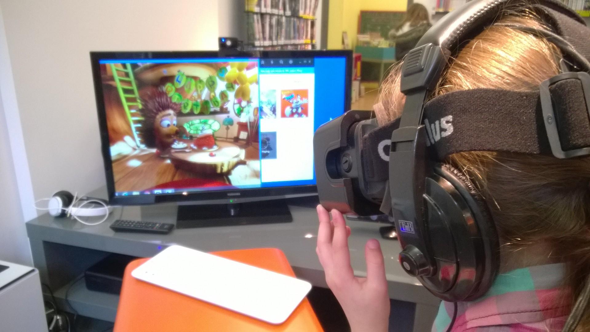 Démonstration de réalité virtuelle